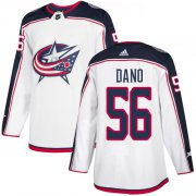 Wholesale Cheap Adidas Blue Jackets #56 Marko Dano White Road Authentic Stitched NHL Jersey
