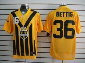 Wholesale Cheap Nike Steelers #36 Jerome Bettis Gold 1933s Throwback Men\'s Embroidered NFL Elite Jersey