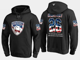 Wholesale Cheap Panthers #26 David Nemirovsky NHL Banner Wave Usa Flag Black Hoodie