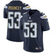 Wholesale Cheap Nike Chargers #53 Mike Pouncey Navy Blue Team Color Men's Stitched NFL Vapor Untouchable Limited Jersey