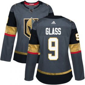 Wholesale Cheap Adidas Golden Knights #9 Cody Glass Grey Home Authentic Women\'s Stitched NHL Jersey