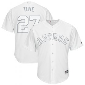 "Wholesale Cheap Astros #27 Jose Altuve White ""Tuve\"" Players Weekend Cool Base Stitched MLB Jersey"