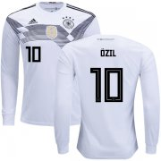 Wholesale Cheap Germany #10 Ozil Home Long Sleeves Kid Soccer Country Jersey