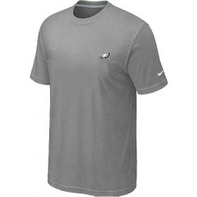 Wholesale Cheap Nike Philadelphia Eagles Chest Embroidered Logo T-Shirt Grey