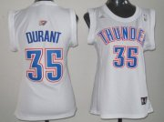 Wholesale Cheap Oklahoma City Thunder #35 Kevin Durant White Womens Jersey