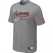 Wholesale Cheap MLB Houston Astros Light Grey Nike Short Sleeve Practice T-Shirt