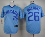 Wholesale Cheap Cubs #26 Billy Williams Blue(White Strip) Cooperstown Throwback Stitched MLB Jersey
