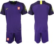 Wholesale Cheap Poland Blank Purple Goalkeeper Soccer Country Jersey