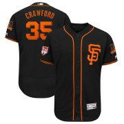 Wholesale Cheap Giants #35 Brandon Crawford Black 2019 Spring Training Flex Base Stitched MLB Jersey