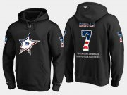 Wholesale Cheap Stars #7 Neal Broten NHL Banner Wave Usa Flag Black Hoodie