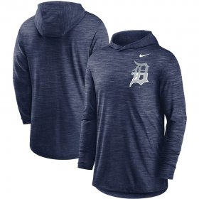 Wholesale Cheap Detroit Tigers Nike Split Logo Performance Long Sleeve Hoodie Top Navy