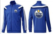 Wholesale Cheap NHL Edmonton Oilers Zip Jackets Blue-4
