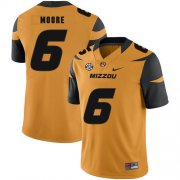 Wholesale Cheap Missouri Tigers 6 J'Mon Moore Gold Nike College Football Jersey