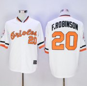 Wholesale Cheap Mitchell And Ness Orioles #20 Frank Robinson White Stitched MLB Jersey