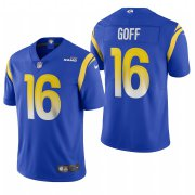 Wholesale Cheap Los Angeles Rams #16 Jared Goff Men's Nike Royal 2020 Vapor Untouchable Limited NFL Jersey