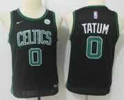 Cheap Youth Boston Celtics #0 Jayson Tatum Black 2017-2018 Nike Swingman General Electric Stitched NBA Jersey