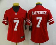 Wholesale Cheap Women's San Francisco 49ers #7 Colin Kaepernick Red 2017 Vapor Untouchable Stitched NFL Nike Limited Jersey