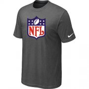 Wholesale Cheap NFL Sideline Legend Authentic Logo Dri-FIT Nike NFL T-Shirt Crow Grey