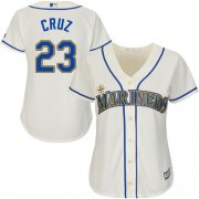 Wholesale Cheap Mariners #23 Nelson Cruz Cream Alternate Women's Stitched MLB Jersey