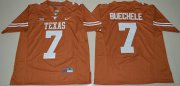 Wholesale Cheap Men's Texas Longhorns #7 Shane Buechele Orange Limited Stitched NCAA Jersey