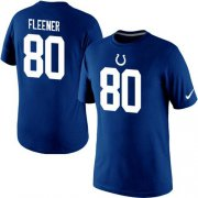 Wholesale Cheap Nike Indianapolis Colts #80 Coby Fleener Pride Name & Number NFL T-Shirt Blue