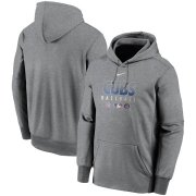 Wholesale Cheap Men's Chicago Cubs Nike Charcoal Authentic Collection Therma Performance Pullover Hoodie