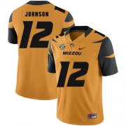 Wholesale Cheap Missouri Tigers 12 Johnathon Johnson Gold Nike College Football Jersey