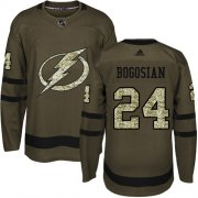Cheap Adidas Lightning #24 Zach Bogosian Green Salute to Service Youth Stitched NHL Jersey
