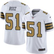 Wholesale Cheap Nike Saints #51 Cesar Ruiz White Youth Stitched NFL Limited Rush Jersey