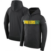 Wholesale Cheap Men's Green Bay Packers Nike Charcoal Sideline Team Performance Pullover Hoodie
