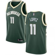 Wholesale Cheap Nike Bucks #11 Brook Lopez Green NBA Swingman Icon Edition Jersey