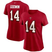 Wholesale Cheap Tampa Bay Buccaneers #14 Chris Godwin Nike Women's Team Player Name & Number T-Shirt Red