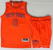 Wholesale Cheap New York Knicks 8 JR Smith Orange Revolution 30 Swingman NBA Jerseys Shorts Suits Christmas Style