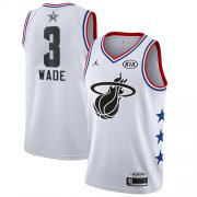 Wholesale Cheap Heat #3 Dwyane Wade White Basketball Jordan Swingman 2019 All-Star Game Jersey