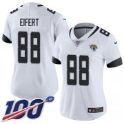 Wholesale Cheap Nike Jaguars #88 Tyler Eifert White Women's Stitched NFL 100th Season Vapor Untouchable Limited Jersey