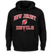 Wholesale Cheap New Jersey Devils Majestic Heart & Soul Hoodie Black