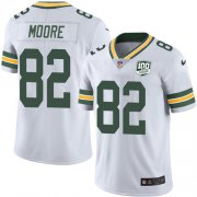 Wholesale Cheap Nike Packers #82 J'Mon Moore White Men's 100th Season Stitched NFL Vapor Untouchable Limited Jersey