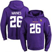 Wholesale Cheap Nike Vikings #26 Trae Waynes Purple Name & Number Pullover NFL Hoodie
