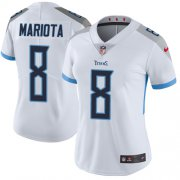 Wholesale Cheap Nike Titans #8 Marcus Mariota White Women's Stitched NFL Vapor Untouchable Limited Jersey