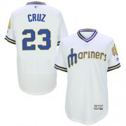 Wholesale Cheap Mariners #23 Nelson Cruz White Flexbase Authentic Collection Cooperstown Stitched MLB Jersey
