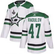 Cheap Adidas Stars #47 Alexander Radulov White Road Authentic Youth 2020 Stanley Cup Final Stitched NHL Jersey