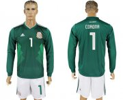 Wholesale Cheap Mexico #1 Corona Home Long Sleeves Soccer Country Jersey