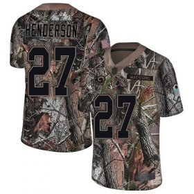Wholesale Cheap Nike Rams #27 Darrell Henderson Camo Men\'s Stitched NFL Limited Rush Realtree Jersey