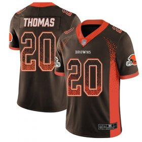 Wholesale Cheap Nike Browns #20 Tavierre Thomas Jr Brown Team Color Men\'s Stitched NFL Limited Rush Drift Fashion Jersey