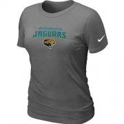 Wholesale Cheap Women's Nike Jacksonville Jaguars Heart & Soul NFL T-Shirt Dark Grey