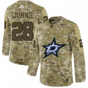 Wholesale Cheap Adidas Stars #28 Stephen Johns Camo Authentic Stitched NHL Jersey