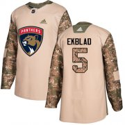 Wholesale Cheap Adidas Panthers #5 Aaron Ekblad Camo Authentic 2017 Veterans Day Stitched Youth NHL Jersey