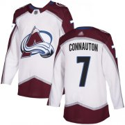 Wholesale Cheap Adidas Avalanche #7 Kevin Connauton White Road Authentic Stitched Youth NHL Jersey