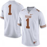 Wholesale Cheap Men's Texas Longhorns 1 White Nike College Jersey