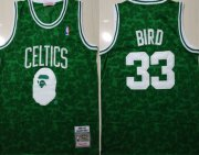 Wholesale Cheap Celtics Bape 33 Larry Bird Green 1985-86 Hardwood Classics Jersey